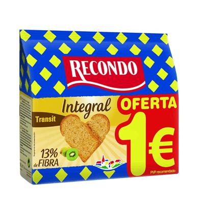 RECONDO Pan Tostado Integral 20 Rebanadas