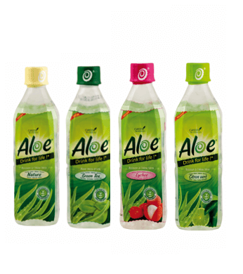 Aloe Drinks For Life Boissons à base de pulpe fraiche d'Aloe Vera
