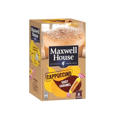 Maxwell House Cappuccino Goût Caramel Carambar