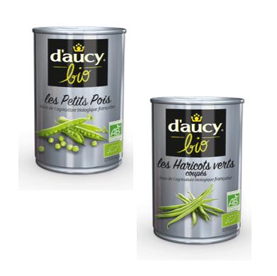 d'Aucy Petits Pois et Haricots Verts Bio