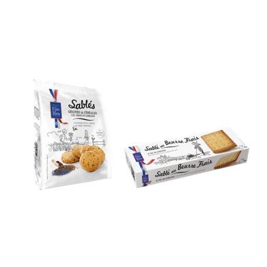 Filet Bleu Sablés sel de Guérande et Mini Cookies