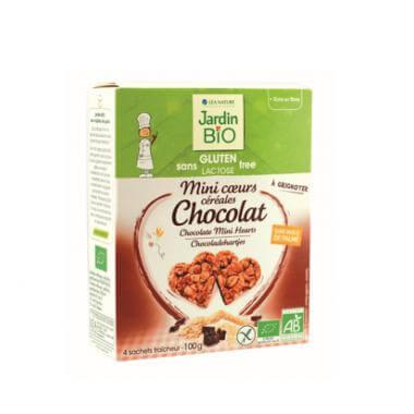 Jardin Bio Mini cœur céréales chocolat sans gluten sans lactose